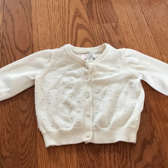 Childrens Place Shirts Tops Little Girl White Cardigan Poshmark